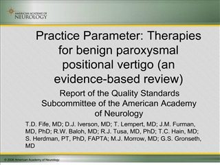 Practice Parameter: Therapies for benign paroxysmal positional ...