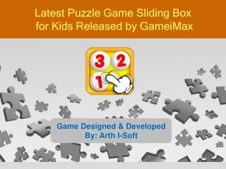 Latest Puzzle Game Sliding Box for Kids Released by GameiMax