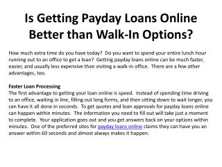 Is Getting Payday Loans Online Better than Walk-In Options