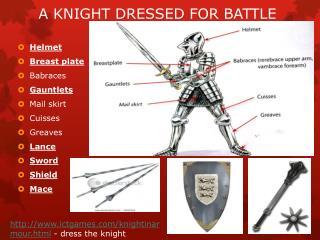 A KNIGHT DRESSED FOR BATTLE