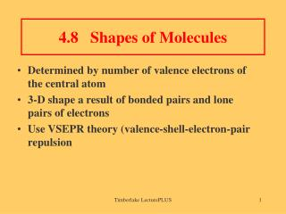 4.8 Shapes of Molecules