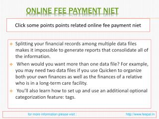 Why You Need a online fee payment niet