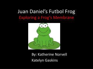 Juan Daniel's Futbol Frog Exploring a Frog's Membrane