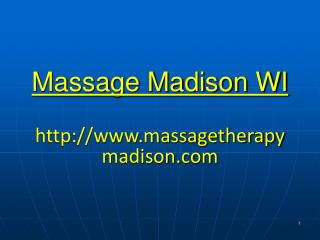 Massage Madison WI