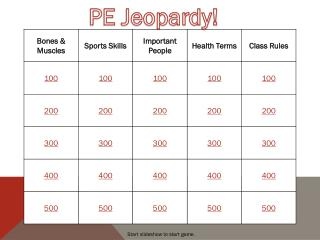 PE Jeopardy!