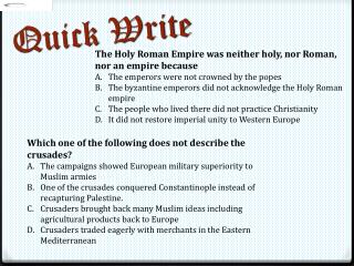 The Holy Roman Empire was neither holy, nor Roman, nor an empire because