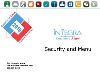 Integra Security and Menu