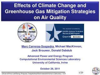 Advanced Power and Energy Program Computational Environmental Sciences Laboratory