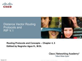 Distance Vector Routing  Protocols and  RIP  V.1