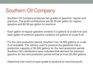 Southern Oil  Company