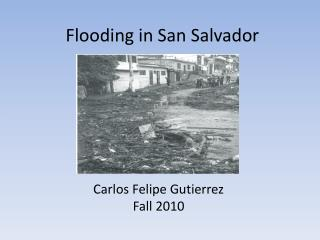 Flooding in San Salvador