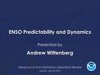 ENSO Predictability and Dynamics
