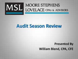 Audit Season Review
