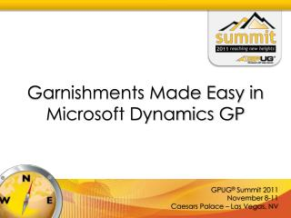 Garnishments Made Easy in  Microsoft Dynamics GP