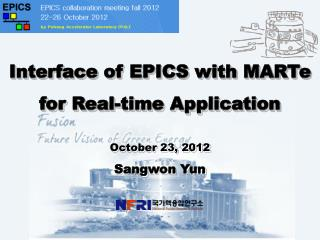 Interface of EPICS with MARTe for Real-time Application