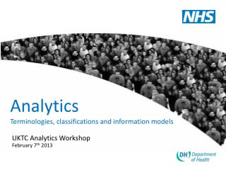 Analytics Terminologies, classifications and information models