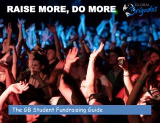 The GB Student Fundraising Guide