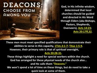 What do Deacons do?