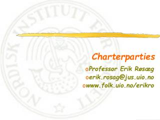 Charterparties