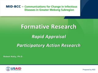 Formative Research Rapid  Appraisal Participatory Action Research