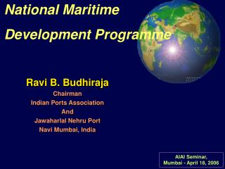 National Maritime Development Programme