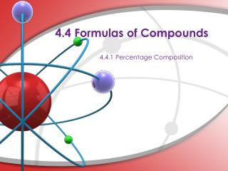 4.4 Formulas of Compounds