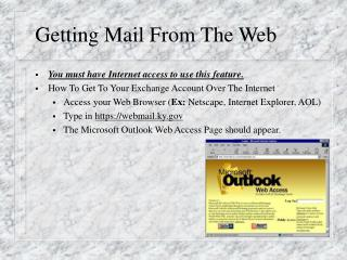 Getting Mail From The Web