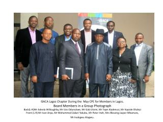 ISACA Lagos  Chapter  During the   May  CPE for Members in Lagos .