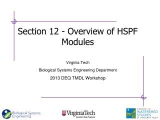 Section 12 - Overview of HSPF Modules