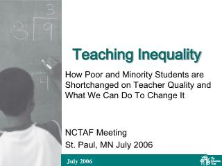 Teaching Inequality