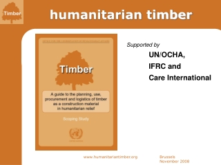 Introduction to OCHA and the  Humanitarian Environment