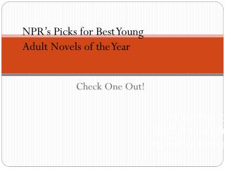 NPR's Picks for Best Young Adult Novels of the Year