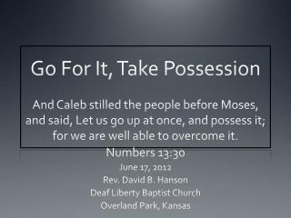 Go For It, Take Possession