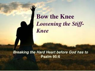 Bow the Knee Loosening the Stiff- Knee