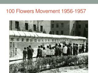 100 Flowers Movement 1956-1957