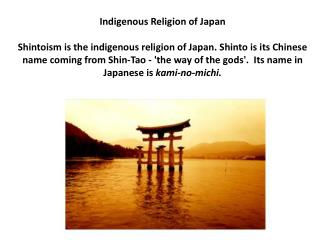 Indigenous Religion of Japan