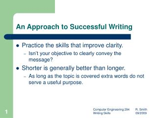 An Approach to Successful Writing