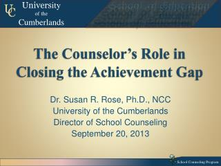 The Counselor's Role in Closing the Achievement Gap