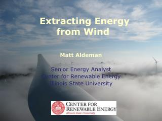 Extracting Energy  from Wind
