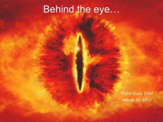 Behind the eye…