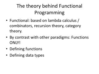 The theory behind Functional Programming