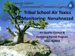 Tribal School Air Toxics Monitoring: Nenahnezad