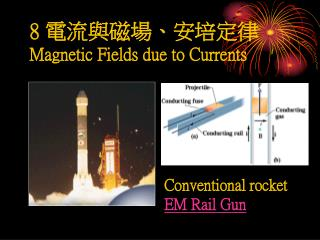 8  電流與磁場 、 安培定律 Magnetic Fields due to Currents
