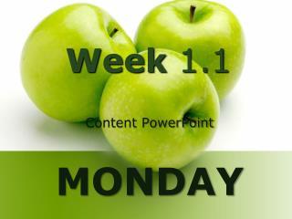 Week 1.1