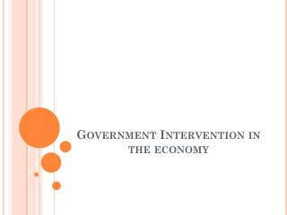Government Intervention in the economy