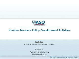 Number Resource Policy Development Activities