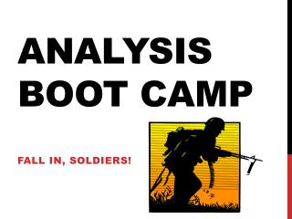 Analysis Boot Camp