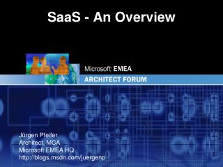 SaaS - An Overview