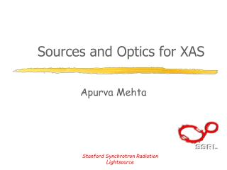 Sources and Optics for XAS