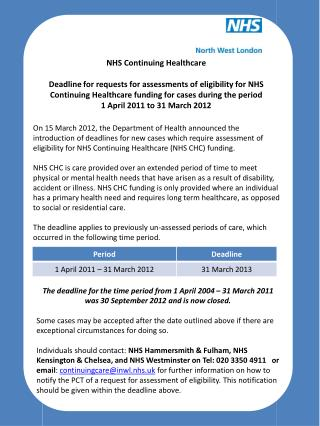 NHS Continuing Healthcare